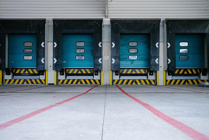 Transport truck garage.